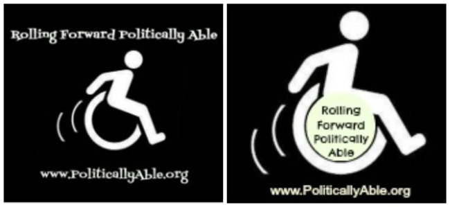 Rolling Forward Politically Able logo challenge.